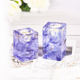 Wedding Table Decoration Luxury Square Crystal Glass Tea Light Candle Holder