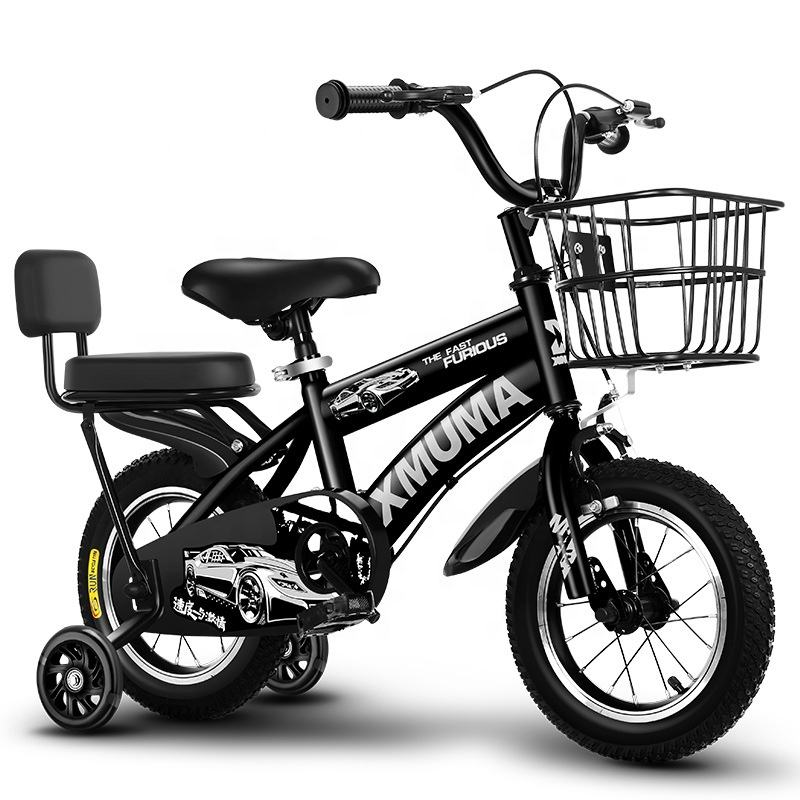 85% Assembled Bicycle for Kids Children Bike with rear carrier &Training Wheels