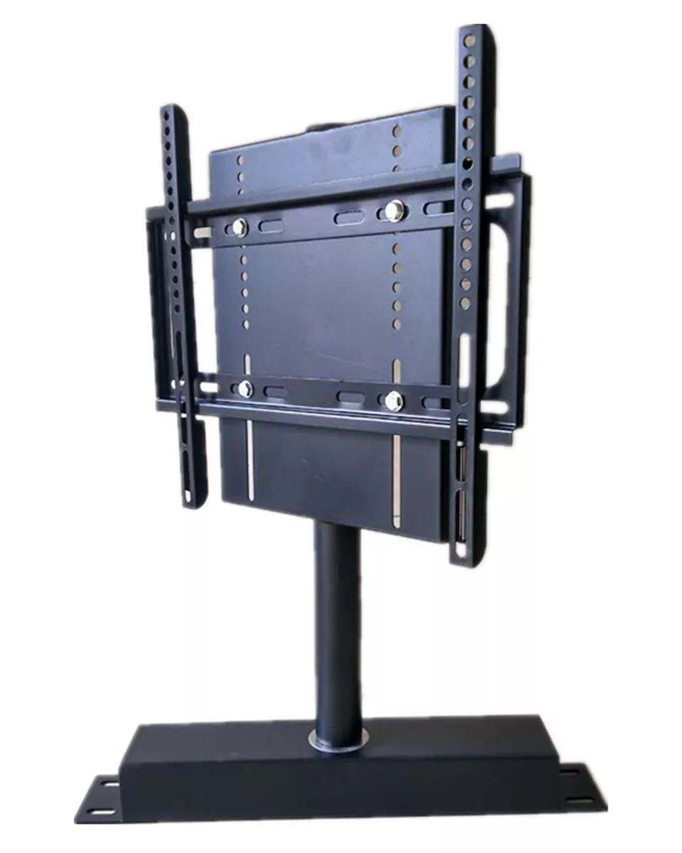 360 degree rotating tv stand hidden base manual rotating swivel tv stand