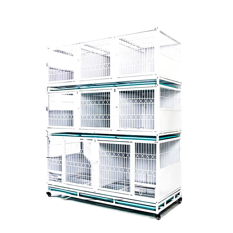 Stackable modular pet dog breeding cages metal for dog