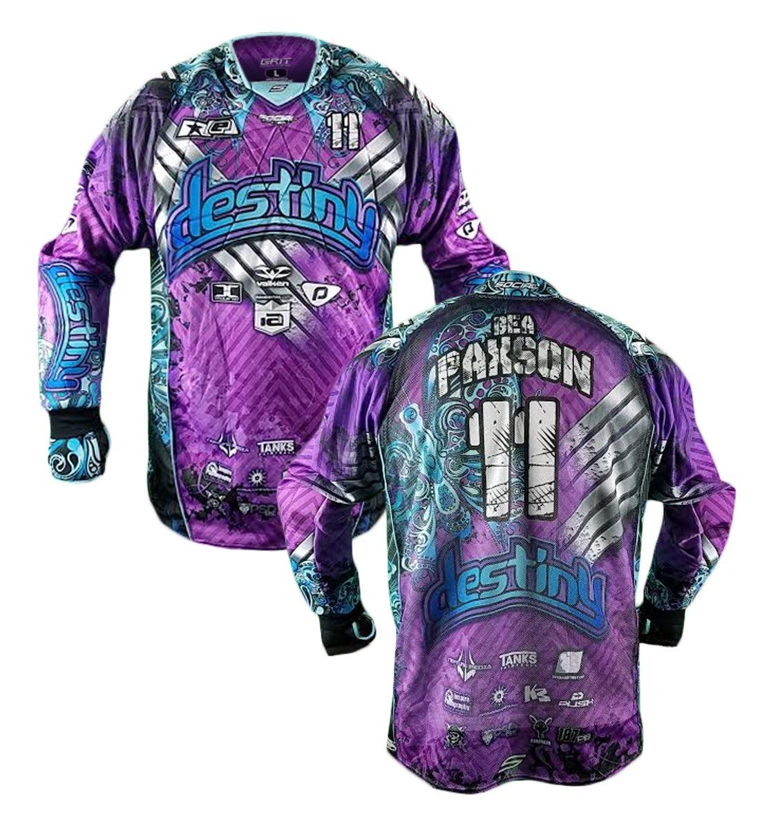 Custom your logo made China hk surge teal tops personalizado sublimation camo paintball jersey