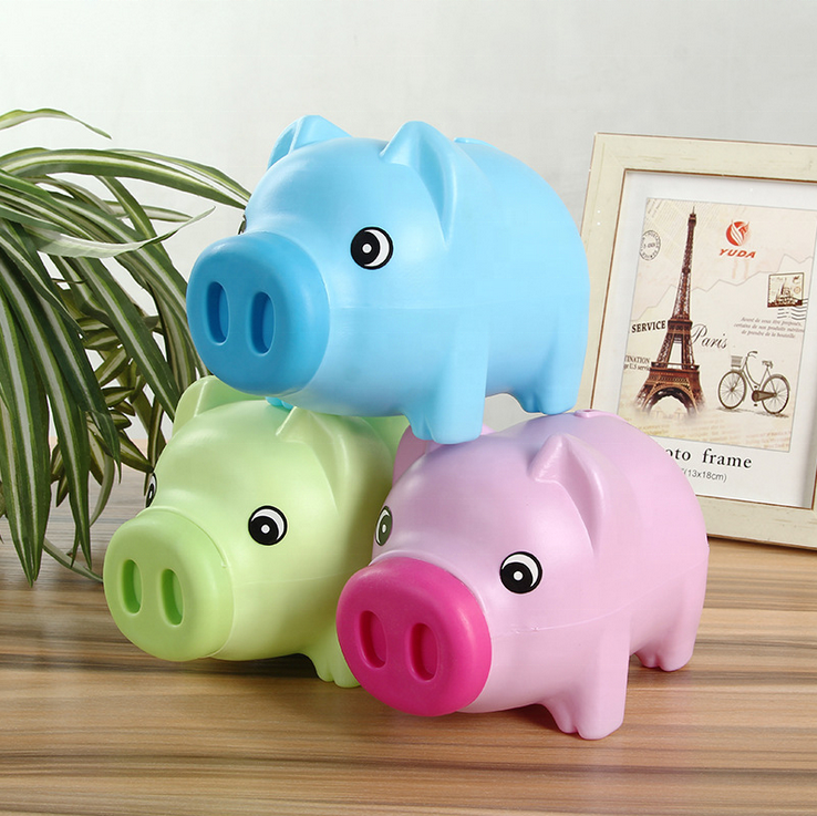wholesale money saving box kids coin plastic piggy bank