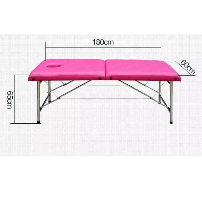 Stainless steel folding massage table economic price cheap portable massage table