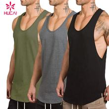 Wholesale Custom Logo sports muscle bodybuilding dry fit plain Tank Tops Gym Running Singlets Stringer fitness mens tank top