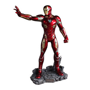 Commercio All'ingrosso di Vita Size Action Figure Decorative per Interni in Fibra di Vetro Resina di Illuminazione Marvel Iron Man Tony Stark Statua Scultura