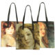 Manufacturer Supplier Oil Painting Reusable Heavy Duty Burlap Shoulder Shopping Tote Bag