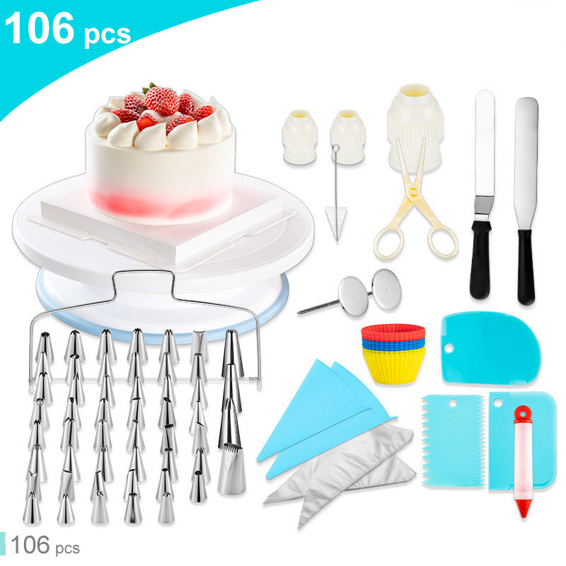 106 pcs Baking Pastry Cake tools Accessories Cake Decorating Supplies Kit Set