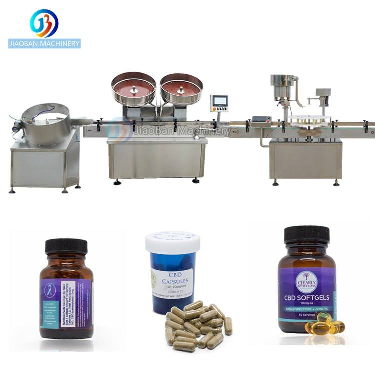 JB-SL60 Full automatic capsule bottling machine pills counting filling capping labeling line medical use applicable