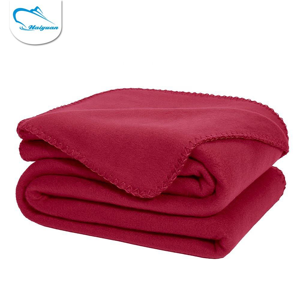 Customized size high quality winter polar fleece blanket 100% polyester