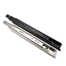 45mm full extension telescopic channel drawer slide guiders 3 folds rails iron metal slides kitchen hardware