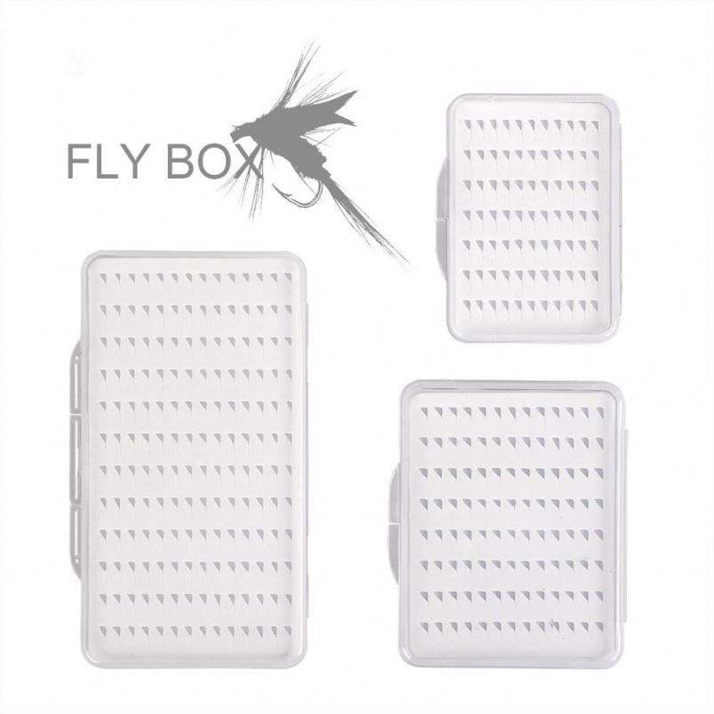 Fly Fishing Box Flies Case Waterproof 77 104 168 Grids Clear View Deep Slot Easy Gip Slit Foam PVC Grip Tackle Box