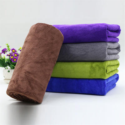 Microfiber multifunction wipe car towel thickened polyester brocade