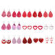 Gold Plated [ Xuping Jewelry ] Xuping Women Drop Earring E-1181 Xuping New Design Environmental Copper Luxury Multi Style Red Teardrop Water Drop Heart Earrings Jewelry For Women
