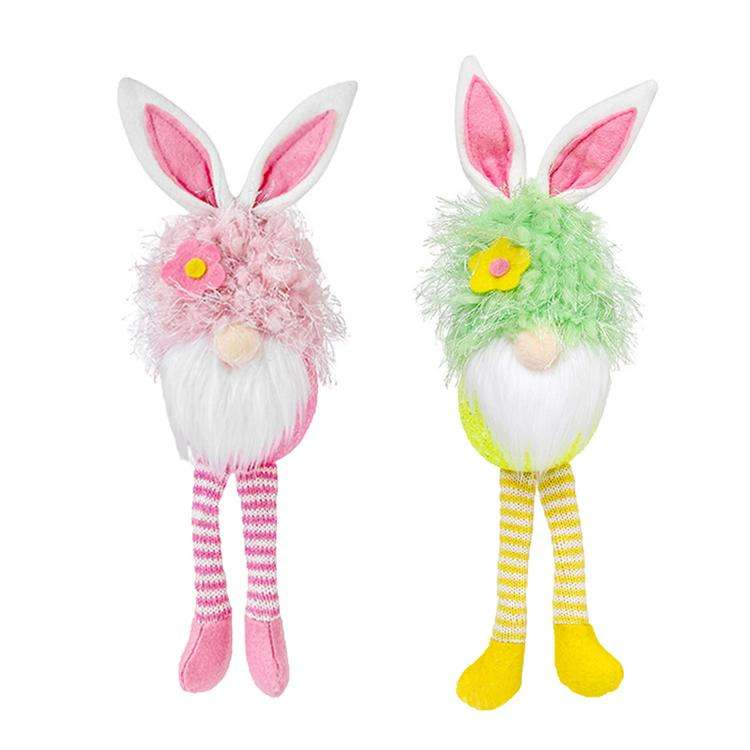 Rabbit ears glowing faceless doll holiday desktop decoration EVA Easter cute rabbit ears glowing faceless doll decoration