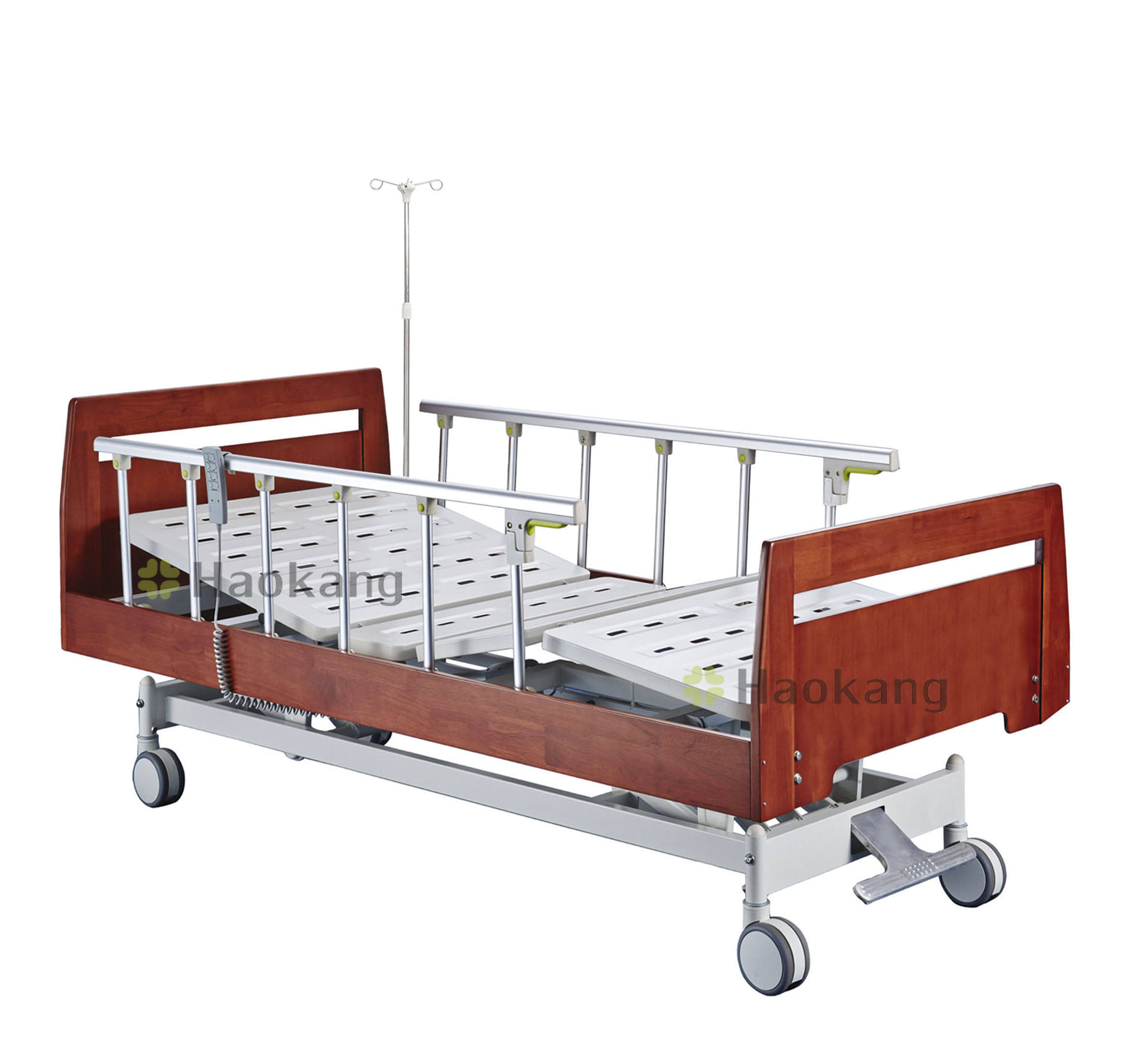 3 cranks electric wooden hospital bed for sale