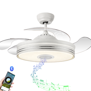 110V 220V folding fan 42 inch bluetooth ceiling fan light and remote