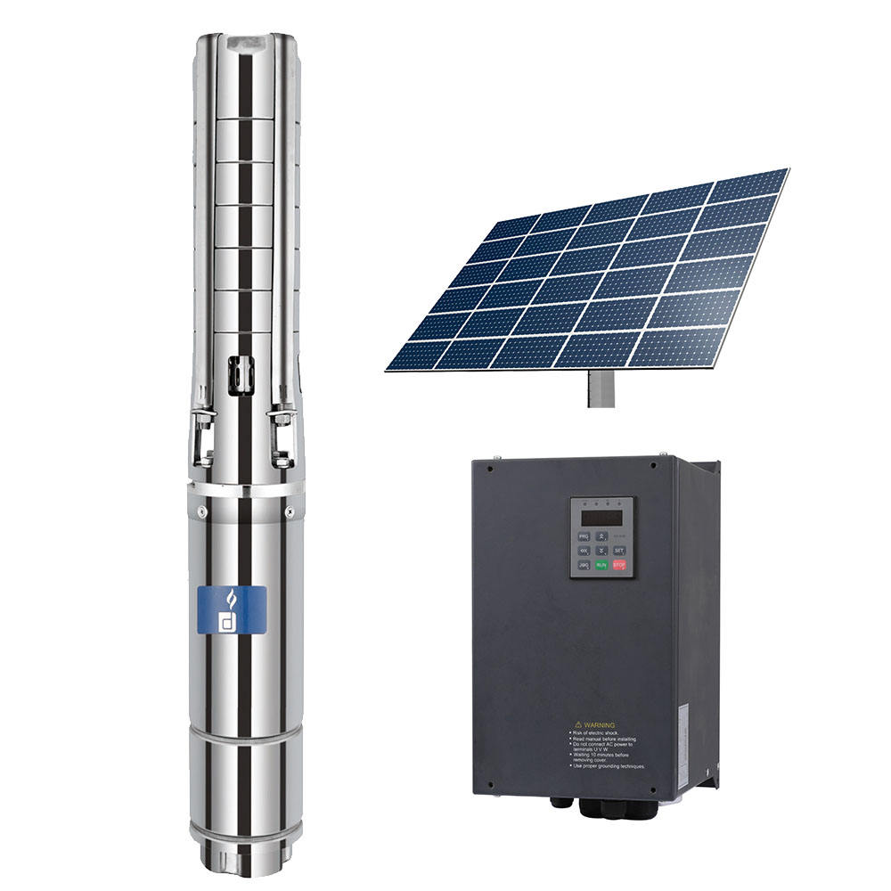 HD-6SSC36-98-380-5500-A/D dc 6 inch ac dc solar deep well submersible pump spare parts/ dc solar panel water pump