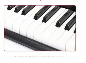 Professional musical instruments display standard piano electronic 61 keys keyboard