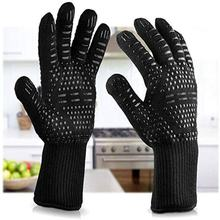 China Factory Flexible Anti Skid BBQ Anti Heat Cooking Working Gloves heat resistant grilling gloves
