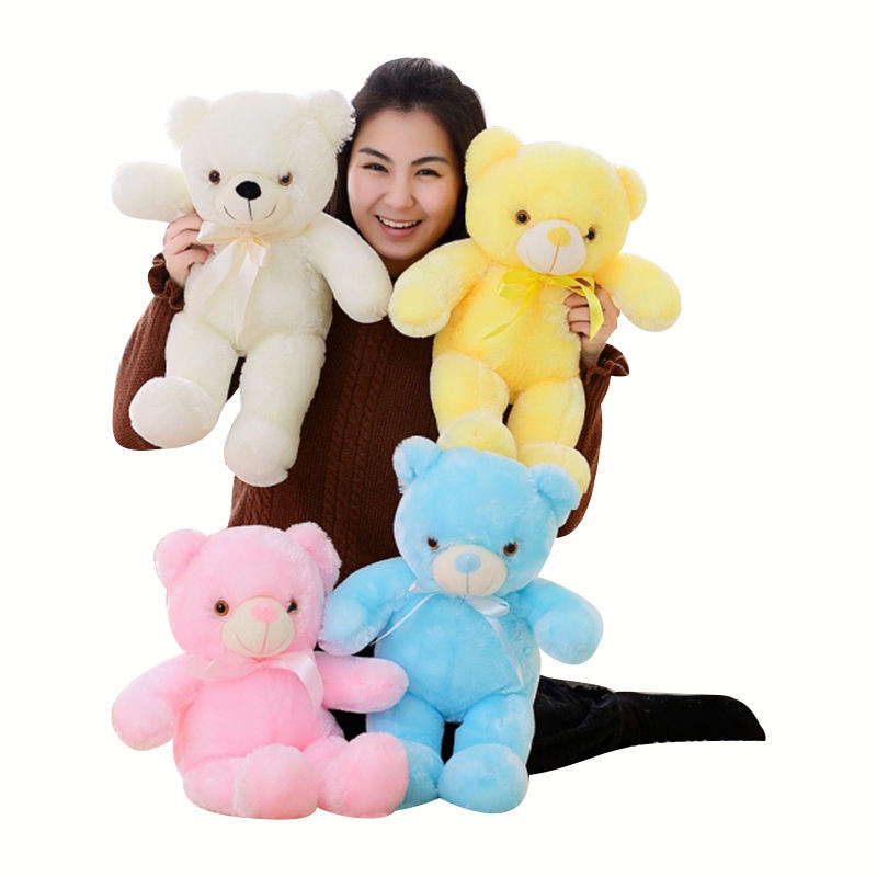 Kids small and big 32cm 50cm 75cm led teddy bear with music christmas gift