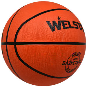 Cheap custom printed logo rubber basket ball