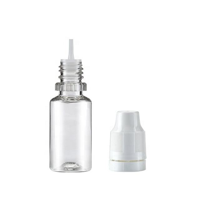 10ml Slim Nozzle eye dropper plastic PET Bottle for CBD Vape Pods Juice Hemp Oil Essence
