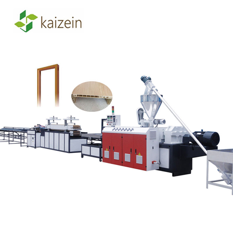 UPVC PVC WPC Wood Plastic Door Frame Profile Making Machine / Extrusion Production Line / Extruder