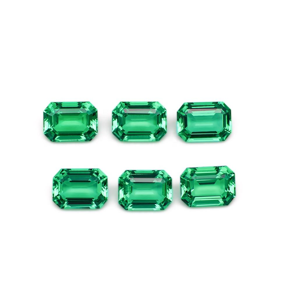 Ruchen Star Gems Emerald Colombiano Emerald Cut Lab Grown