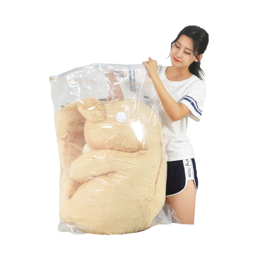 Large Vacuum Storage Bags XL Size for Big Bears Toys Dolls with Zipper