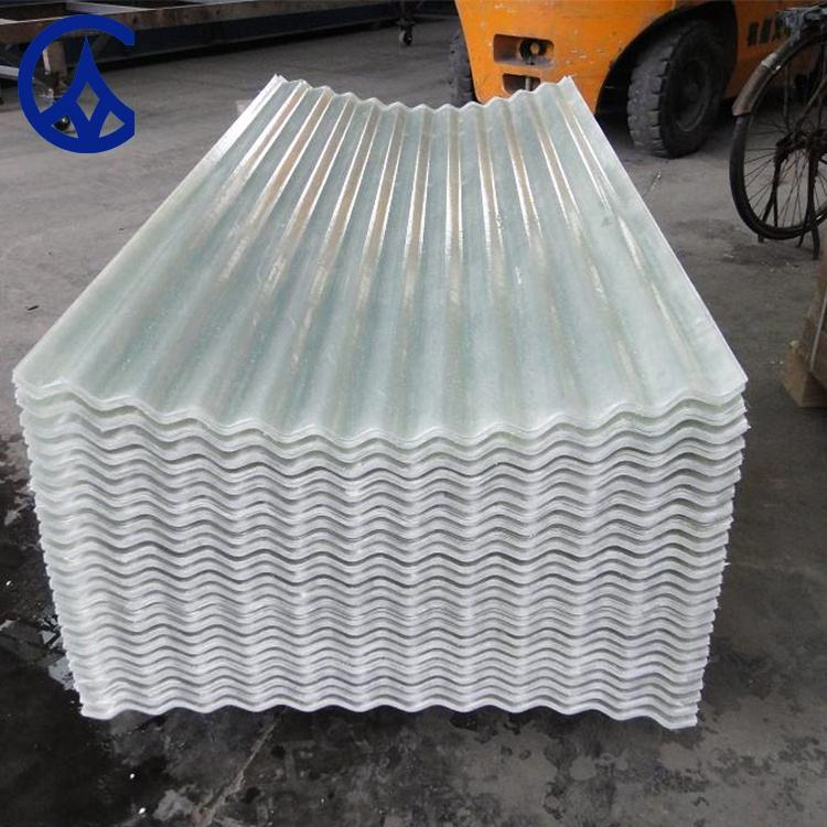 Building materials new technology 2019 fiber glass FRP polycarbonate sheet transparent roofing tile ridge