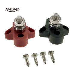 AMOMD Two Pack Heavy-Duty Single Stud Bus Bar for Boat Car R