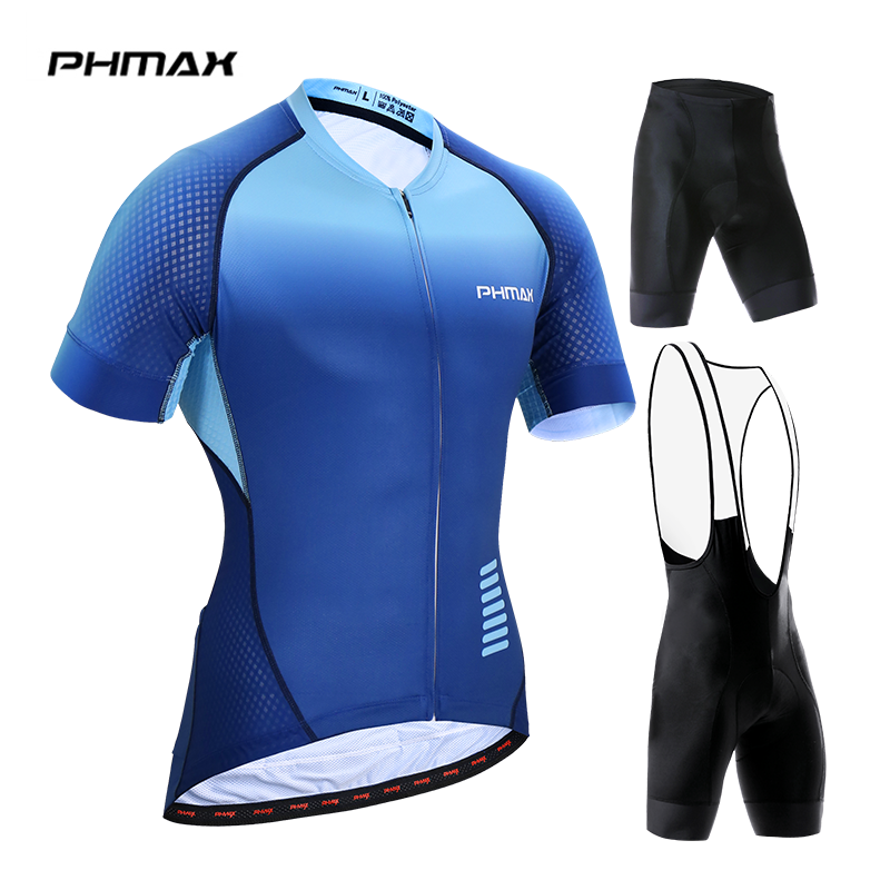 PHMAX 2019 Pro Cycling Jersey Set Maillot Ropa Ciclismo Racing Bicycle Clothing Mans Mountain Bike Clothes Cycling Set