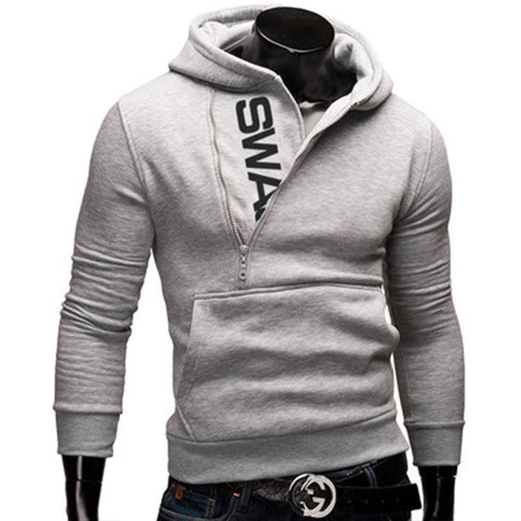 China Manufacturer Fashion Custom Printed Men Pullover Hoodies With Zipper Decoration