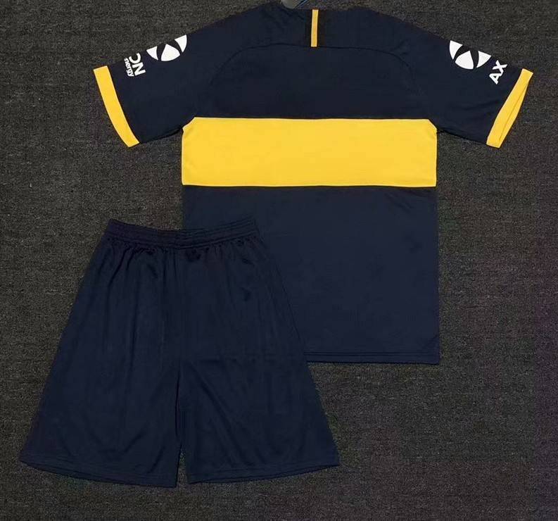 KIDS KIT 2020 2021 Boca Juniors soccer Jersey Home 20 21 Boca Juniors TEVEZ MARADONA MOURA ABILA REYNOSO DE ROSSI Football shirt