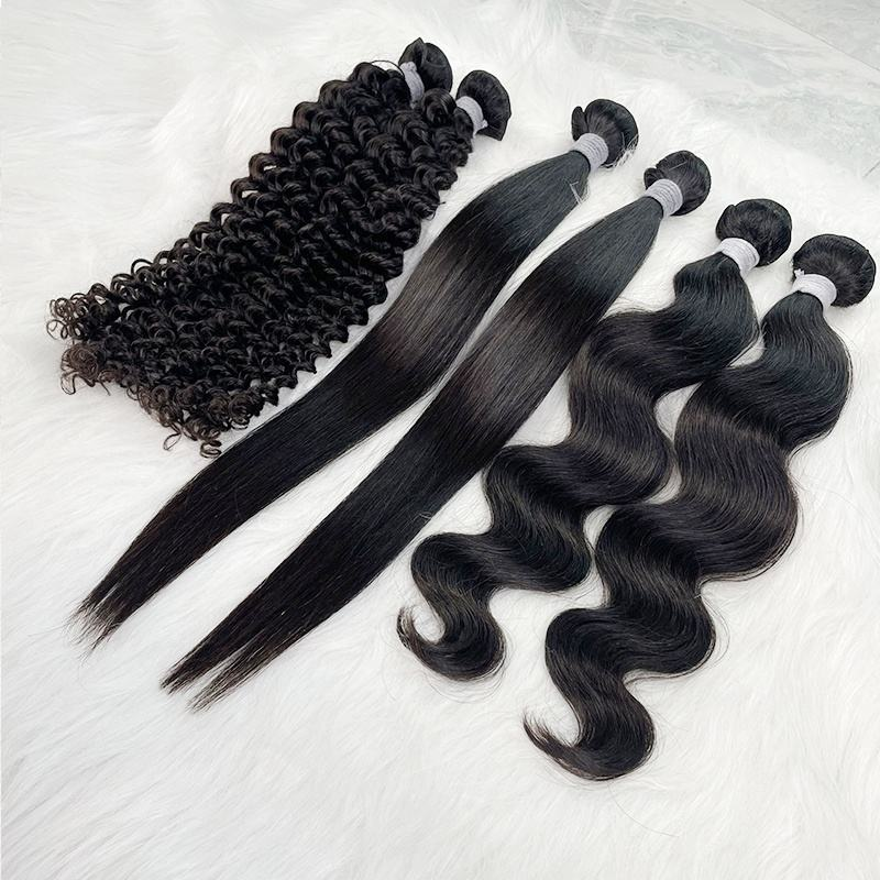 Hair Weaving Hair Angelbella Top Quality Mink Brazilian Hair Bundles Weave Straight And Wavy Good Texture A Brazilian Human Hair