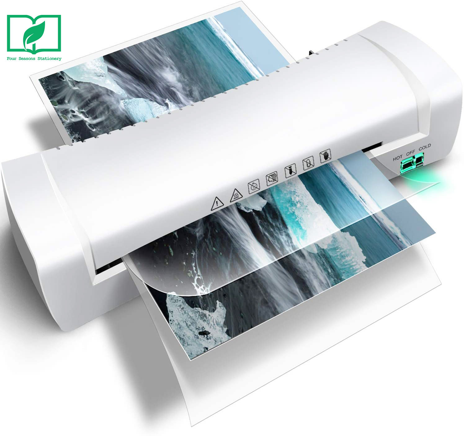 Automatic hot and cold A4 flatbed laminator or laminating machine