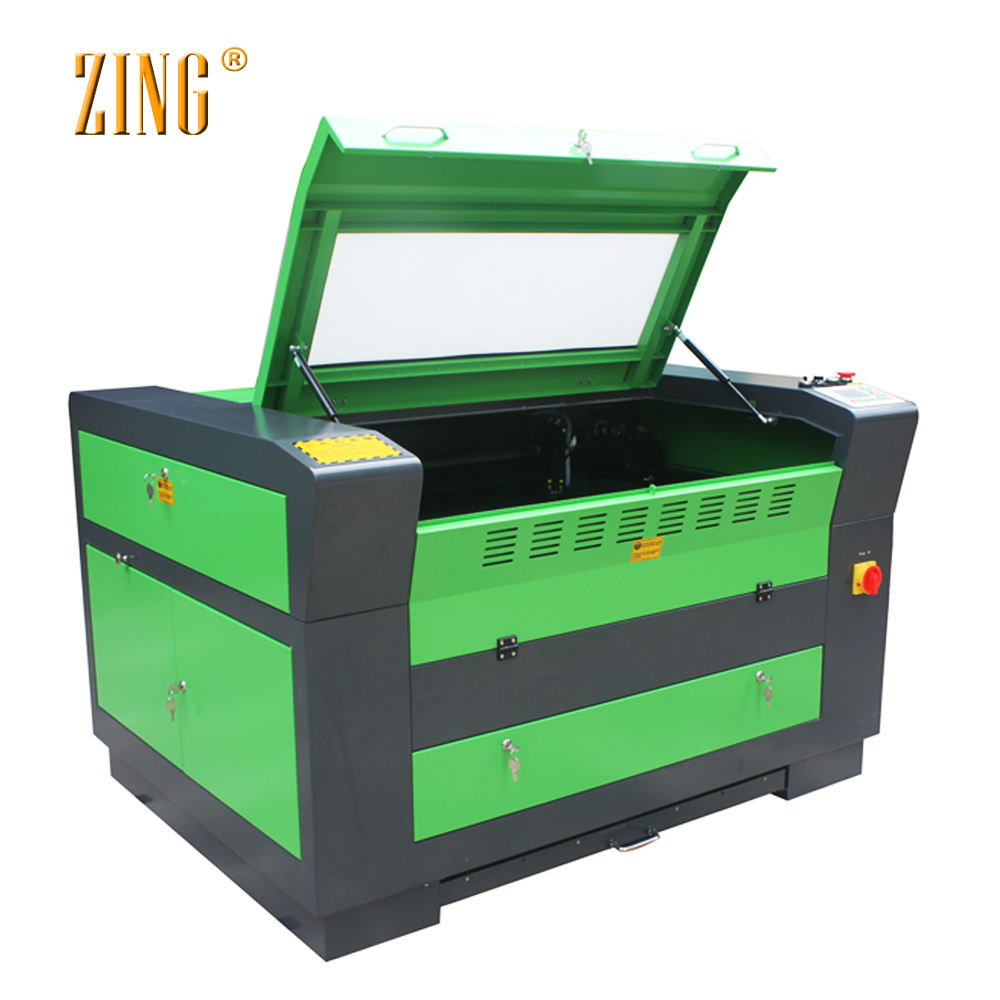 ZING Z6090 China CE FDA 6090 co2 laser/cnc laser cutter/100 watt laser