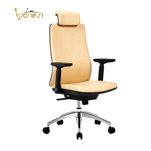 Ergonomic design office furniture China high back leather executive office chair
