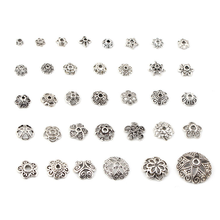 Hot sale tibetan silver alloy DIY flower bead caps