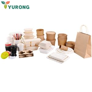Wholesale Disposable Takeaway Biodegradable Food Container With Lids