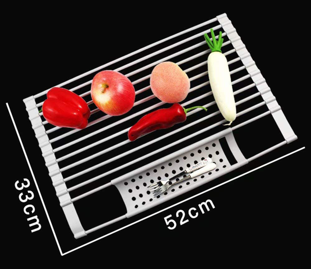 100% Food Grade BPA Free Silicone Draining Rack Roll up round dish drying rack
