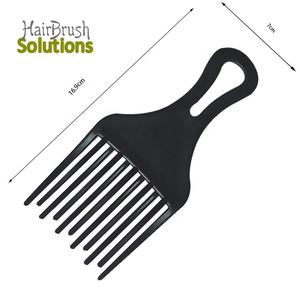 Wholesale Features Black Plastic Curl Private Logo Flat Wide Tooth PP Custom Colors Pets Durable Afro Hair Combs