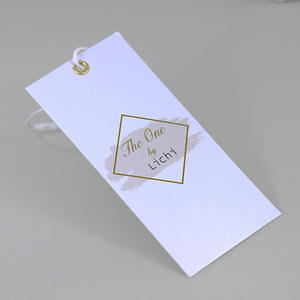 customized luxury fashion accessories tags cheap garment embossed custom hang tags