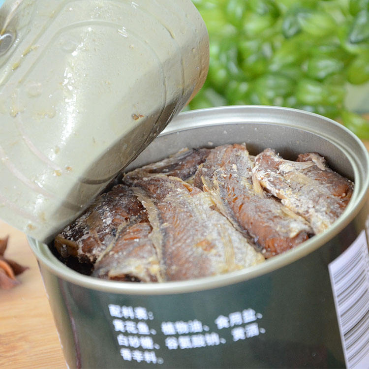 Canned food canned yellow croaker fish