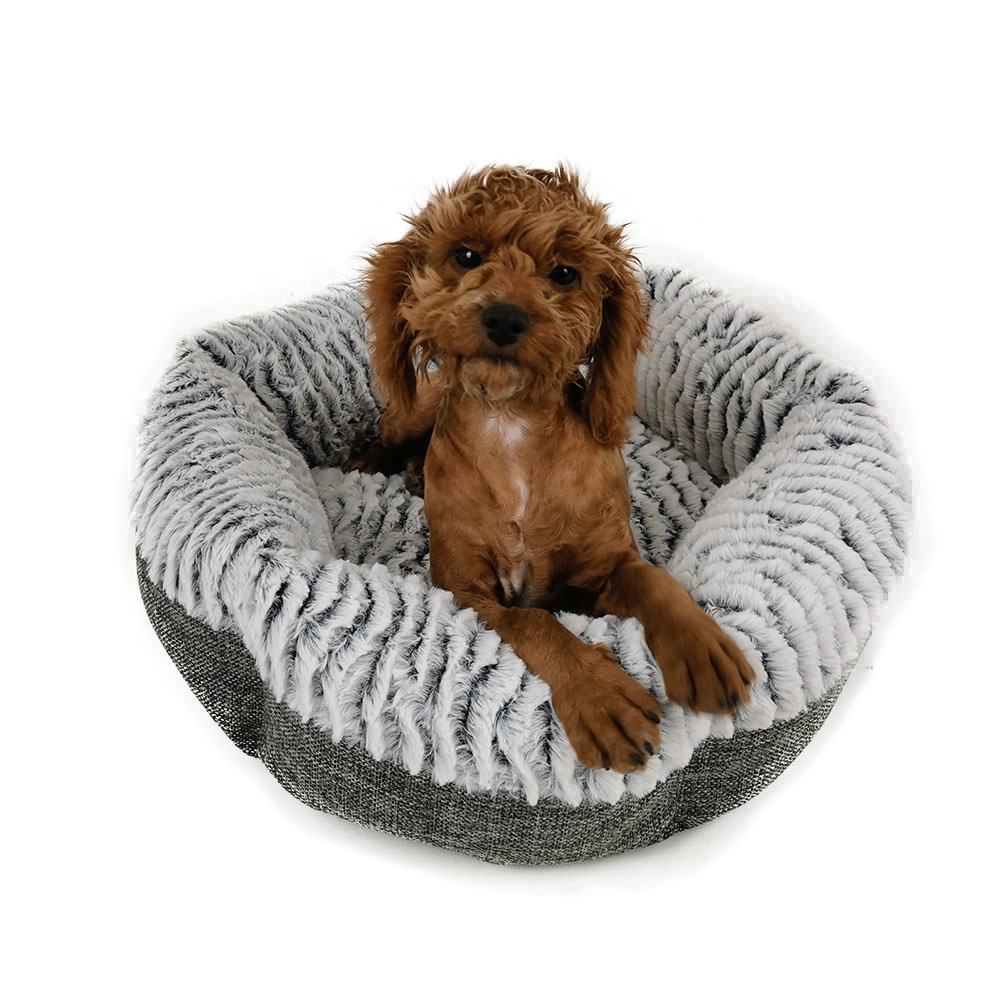 Yangyang pet supplies products cute warming small round dog bed washable soft cat pet bed