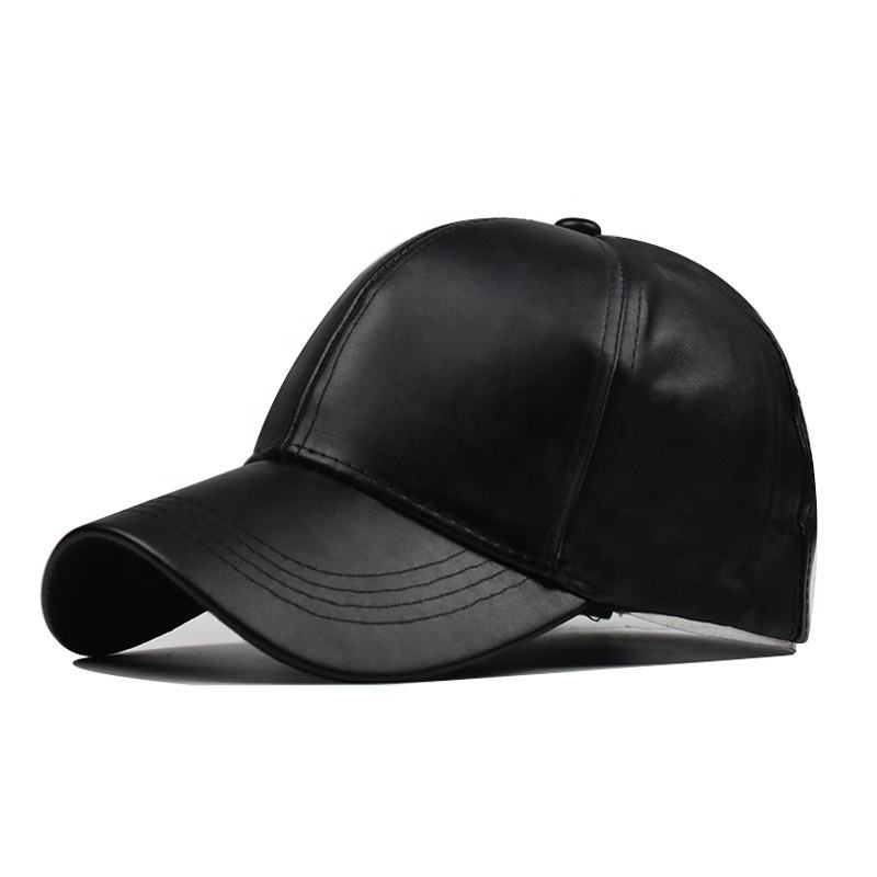 Newest mens plain design top quality unisex leather korean old man stock baseball base ball cap caps hat hats for men