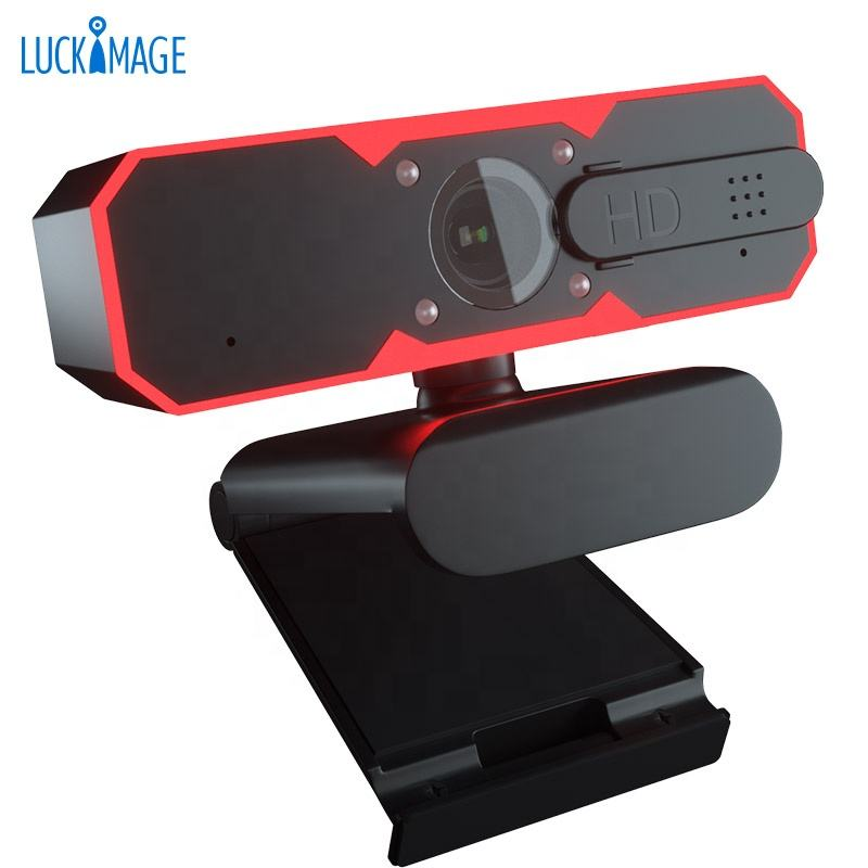 Luckimage night vision computer camera android tv box uvc webcam with light usb pc camera 1080p hd webcam