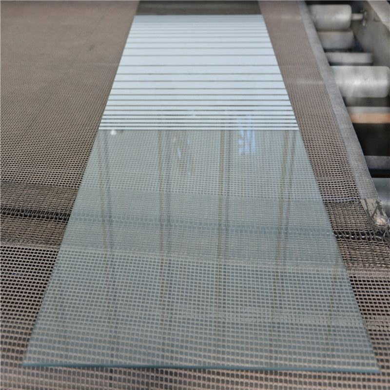 3 mm -19 mm Clear tinted colored frosted acid etched glass price tempered printed glass for building
