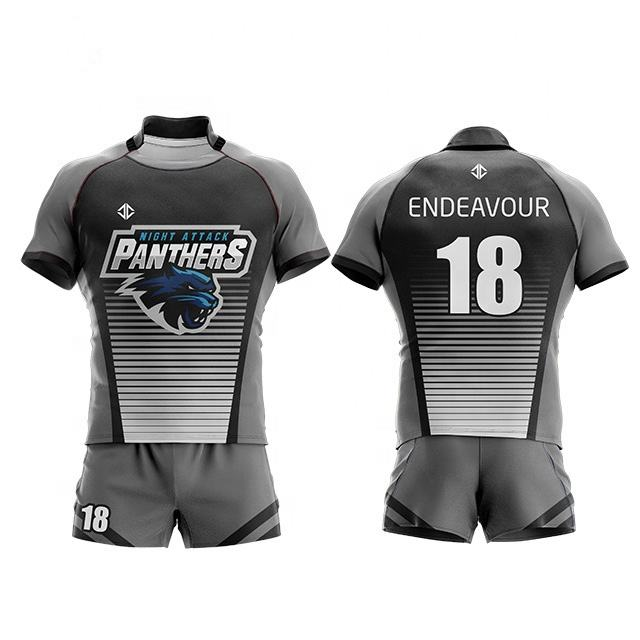 Oem Kid Full Sublimation Breathable Home And Away Football Uniform Sets Youth Rugby Jersey Customize