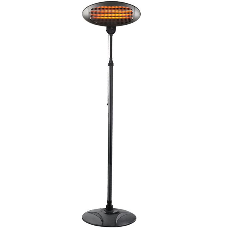 2000W Adjustable thermostat control floor standing infrared outdoor electric patio heater